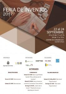 Cartel Feria de Inventos en castellano